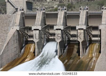 Uzuncayir Dam in Tunceli,Turkey. - stock photo