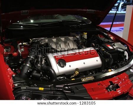 V6 Alfa Romeo - stock photo