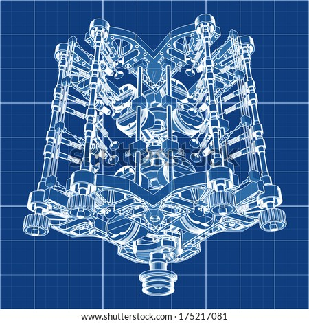 3d cad stock images royalty free images vectors shutterstock v8 car engine cad cartoon white drawing on blue background illustration outline high resolution 3d malvernweather Image collections