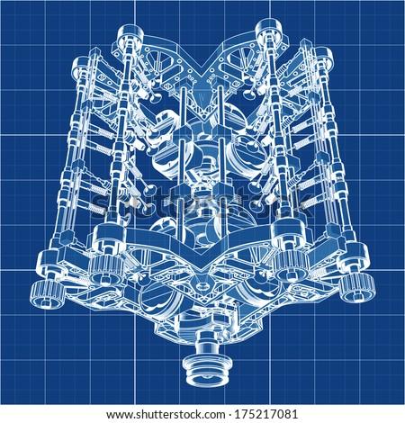 v8 engine blueprints - photo #35