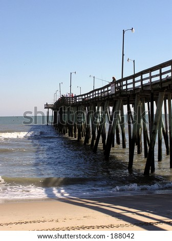 Va. Beach Pier - stock photo