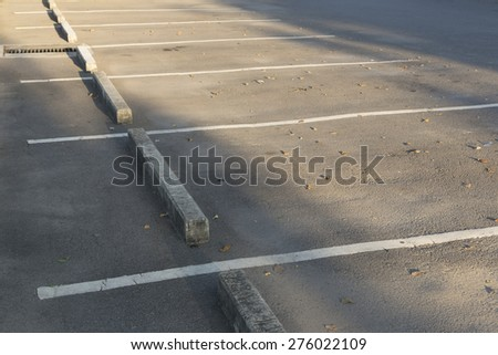 Vacant Parking Lot  - stock photo