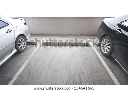 Vacant Parking Lot with Copy Writing Space - stock photo