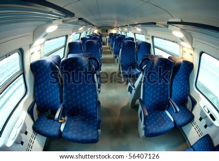 Vacant Seats Inside Train Stock Photo 56407126 - Shutterstock