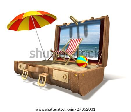 Vacation at home - stock photo