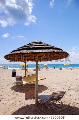 Vacation beachfront getaway - stock photo