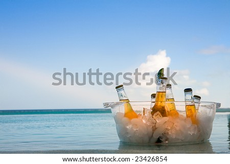 Vacation Beer - stock photo
