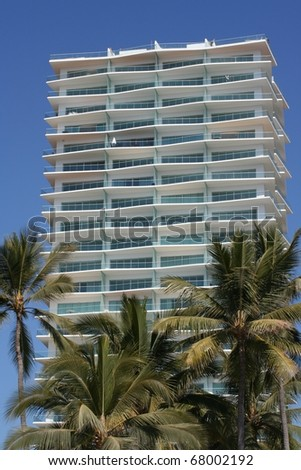 Vacation Condos in Tropical Mexico Resort - stock photo