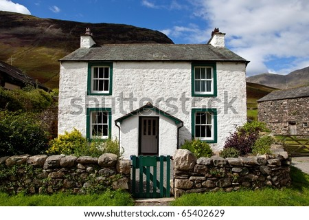 Vacation cottage house in the Lake district area in England