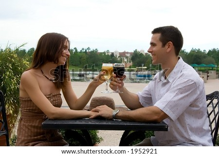 Vacation - couple series - stock photo