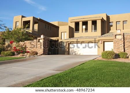 vacation house in arizona - stock photo