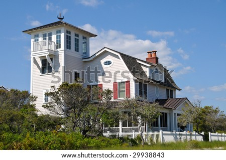 Vacation House on the Beach - stock photo