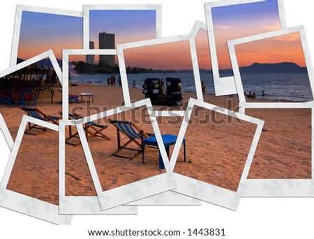 Vacation Location:Pattaya Beach, Thailand - stock photo