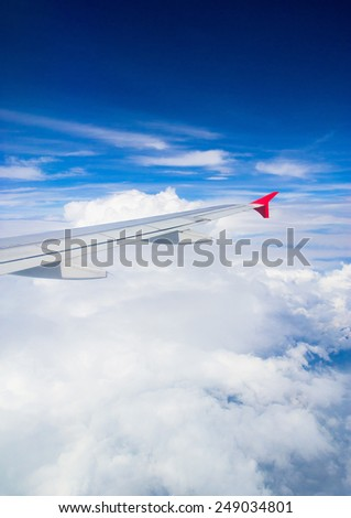 Vacation Starts Skies above and below  - stock photo