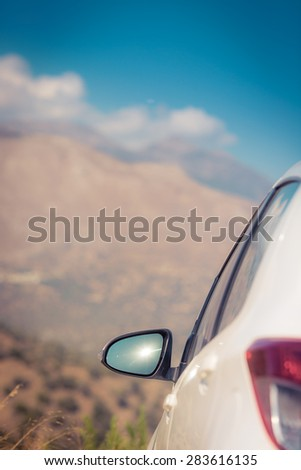Vacation. Summer holiday and car travel concept - stock photo