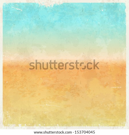 Vacation themed grungy retro abstract vector background - stock photo
