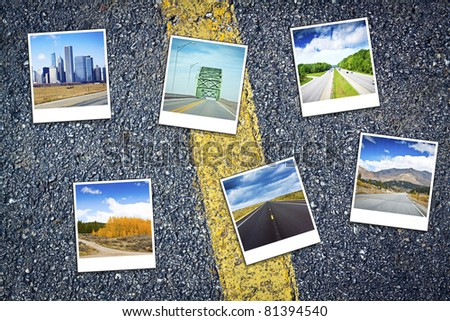 Vacation Travel Background - stock photo