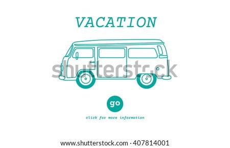 Vacation Traveling Adventure Journey Destination Van Concept - stock photo