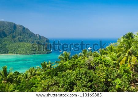 Vacation Wallpaper Heaven Seascape - stock photo