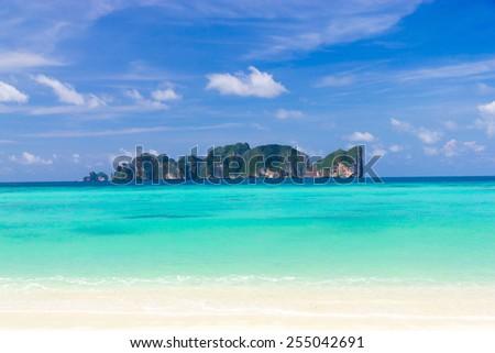 Vacation Wallpaper Serene Waters  - stock photo