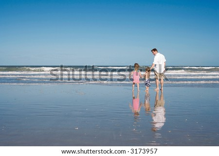 Vacation with dad - stock photo
