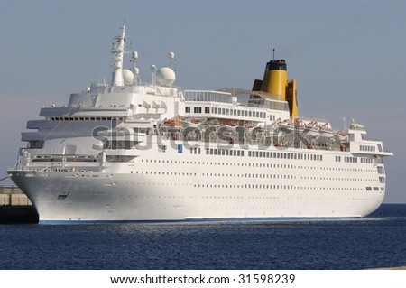 Vacations in cruise. - stock photo