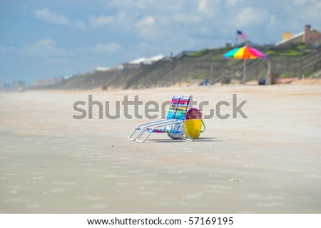 Vacations on the beach - stock photo