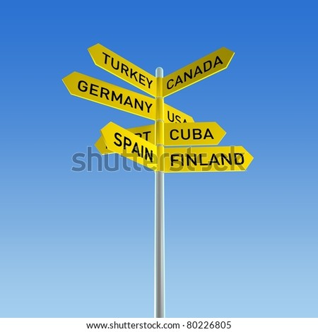 Vacations Sign - stock photo