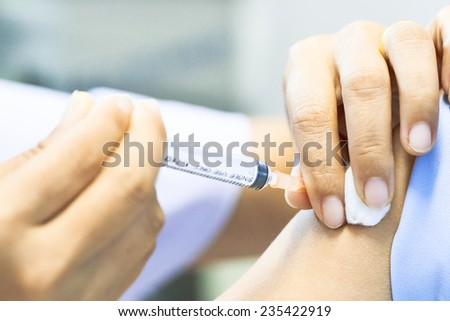 Vaccination for thread - stock photo