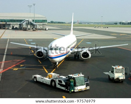 Vaclav Havel Prague International Airport , Ruzyne, Czech Republic - stock photo
