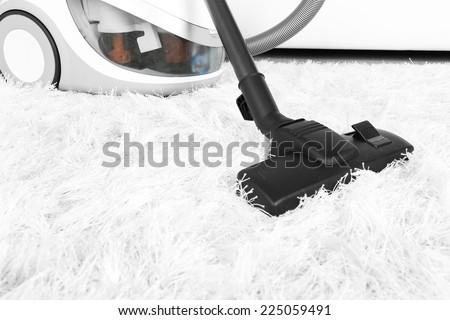Vacuum cleaner carpet - stock photo