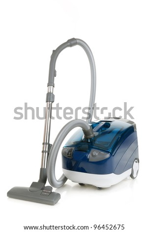 vacuum cleaner isolated on white - stock photo