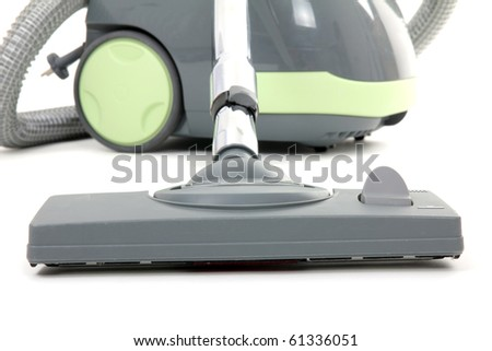 vacuum cleaner isolated over white, close up - stock photo