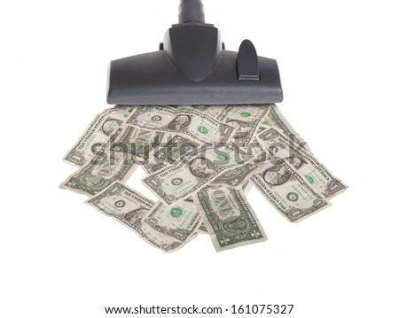 Vacuum Cleaner with American Dollars- Stock Image