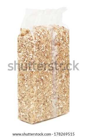 vacuum packaging of cereals - stock photo