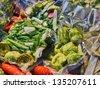 Vacuum vegetables - stock