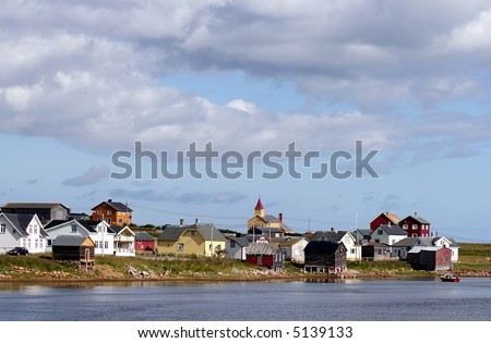 Vadsø, on the southern coast of the Varanger Peninsula, Finnmark, north-eastern Norway, by the Barents Sea - stock photo