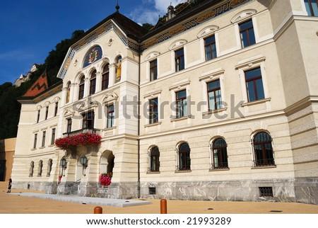 Vaduz town hall in Liechtenstein - stock photo