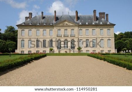 Val d Oise, classical castle in the Domaine de Villarceaux