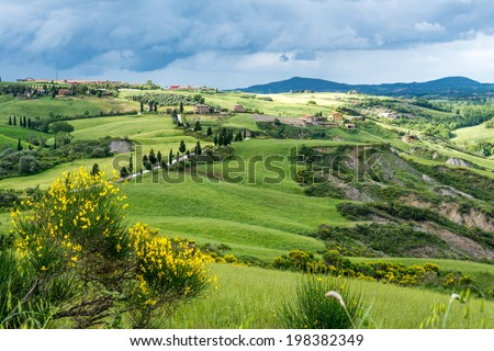 VAL D'ORCIA, TUSCANY/ITALY - MAY 17 : Val d'Orcia in Tuscany on May 17, 2013