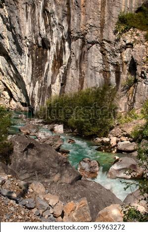 Valbona River in Albania 03 - stock photo