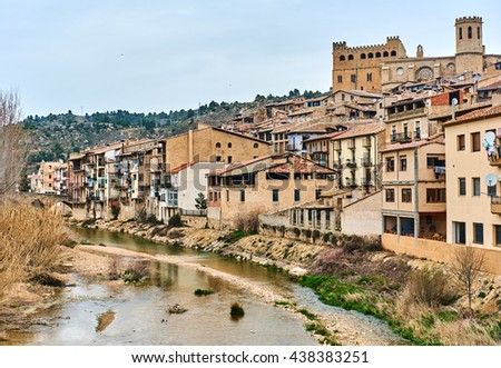 Valderrobres village, known as one of the most beautiful village in Spain