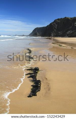 Vale dos Homens beach, Rogil, Aljezur, Portugal  - stock photo