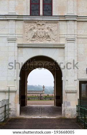 Valencay castle in the valley of Loire, France  - stock photo