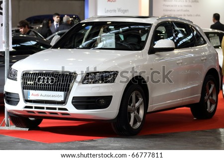 VALENCIA - DECEMBER 7: Yearly automotive new and used show. December 7, 2010 in Valencia, Spain. Audi Q5 - stock photo