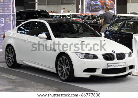 VALENCIA - DECEMBER 7: Yearly automotive new and used show. December 7, 2010 in Valencia, Spain. BMW M3 - stock photo