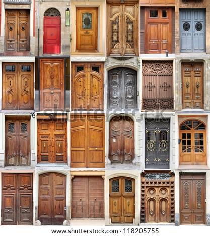 Valencia doors - stock photo