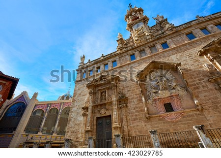 Valencia Santos Juanes historic Church in Spain