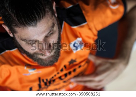 VALENCIA, SPAIN - DECEMBER 12th: Diot during Spanish League between Valencia Basket Club and Montakit Fuenlabrada at Fonteta Stadium on December 12, 2015 in Valencia, Spain - stock photo