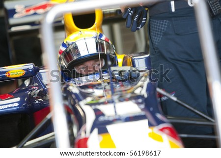 VALENCIA, SPAIN - JUNE 25: Formula 1 Valencia Street Circuit - Mark Webber - June 25, 2010 in Valencia, Spain